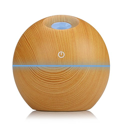 KBAYBO Aroma Diffuser Humidifier Essential Oil Diffuser Air Purifier Portable 130ml Touch Sensitive 6 Color LED Lights Changing for Home, Office, Baby Room, Bedroom, Yoga, Spa Hotel (Yellow)
