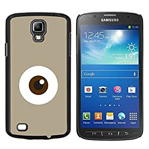 YiPhone /// Prima de resorte delgada de la cubierta del caso de Shell Armor - Monstruo de ojos minimalista Monada Beige - Samsung Galaxy S4 Active i9295