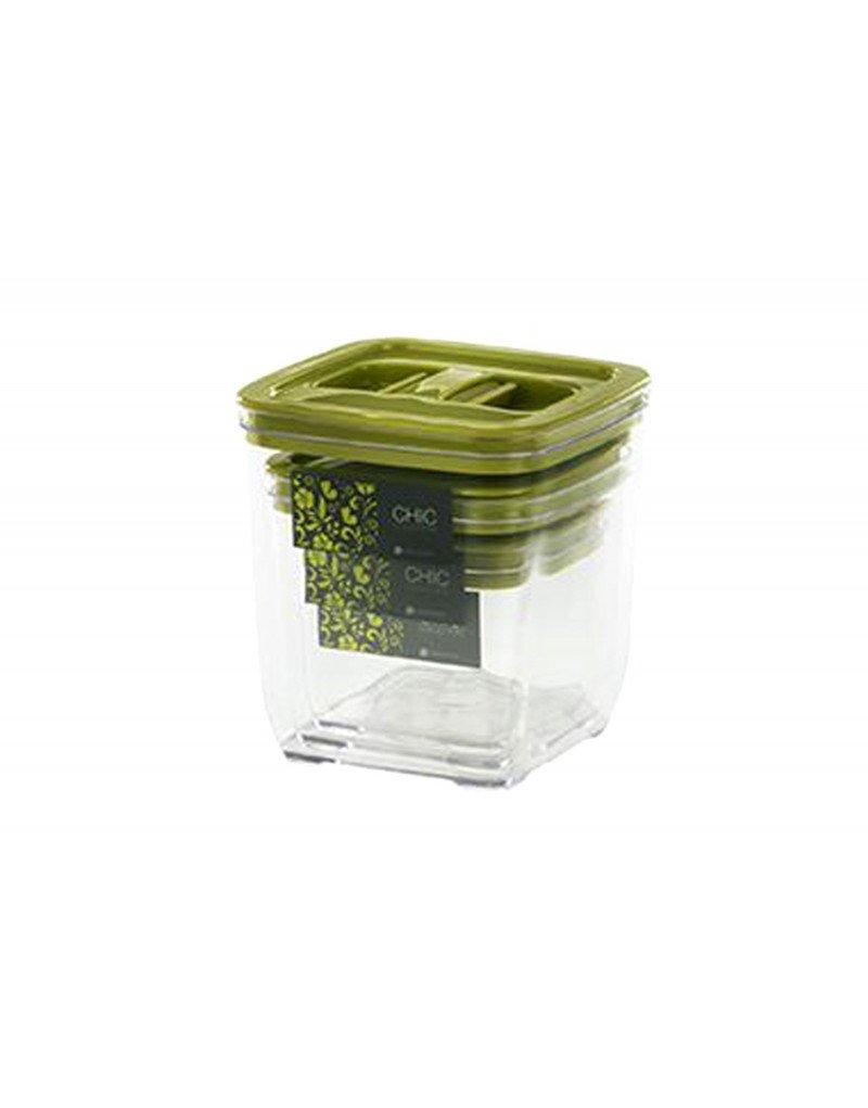 Hogar y Mas Pack de 3 Tápers - fiambreras 4 Colores - Verde: Amazon.es: Hogar