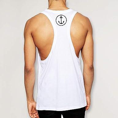 VIENTO Drunk Skull Sailor Camiseta de Tirantes para Hombre
