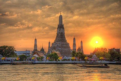 wallmonkeys-wm39224-wat-arun-thailand-temple-in-sunset-scene-peel-and-stick-wall-decals-72-in-w-x-48