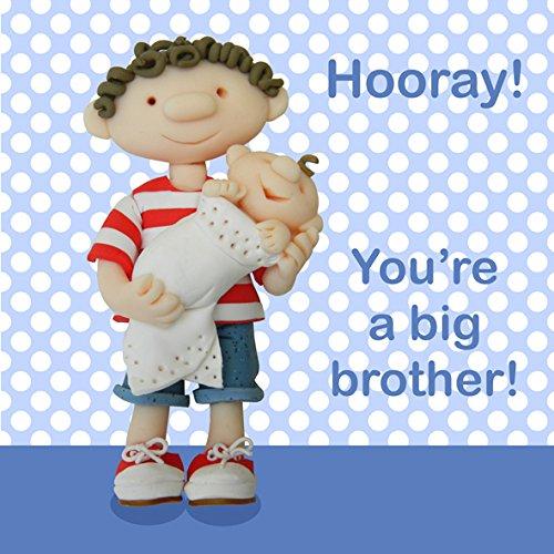 Holy Mackerel Greeting Card- New Big Brother- Congratulations, New Baby, New Sibling Card, Big Brother