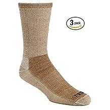 J.B. Field's Super-Wool Hiker GX Merino Wool Hiking Socks (3 Pairs)