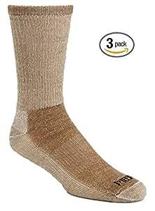 3 Pair Super-wool Hiker GX Merino Wool Hiking Socks (Small (1-5 Shoe), Black)
