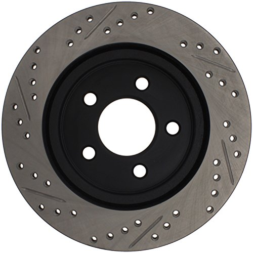Matt Chrome Disc (Stop Tech 127.61087L Sportstop Slotted and Drilled Brake Rotor)