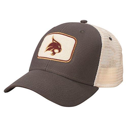 ncaa-texas-state-bobcats-soft-mesh-sideline-cap-adjustable-size-dark-grey-natural