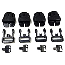 Qty 4 SPA or Hot Tub Cover Locking Plastic Buckle Replacement Kit w/ Keys