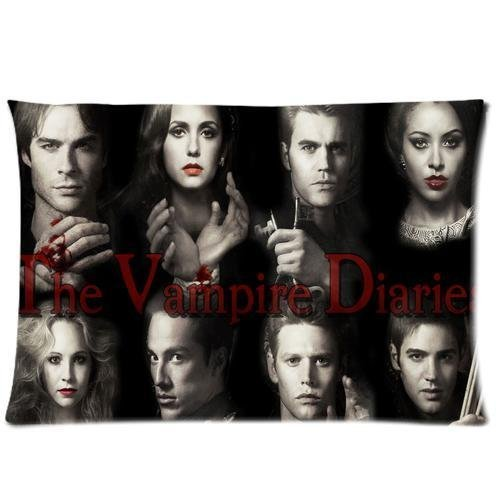 Vampire Diaries Pillowcase Custom Vampire Diaries Wallpaper / Poster / Photo 20x36 Inchs Pillow Case Zippered Two Sides Printed