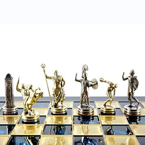 Manopoulos - Juego de ajedrez para lanzar discos (laton y niquel), color azul