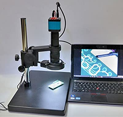 GOWE 14MP HDMI USB Industry Lab Video Microscope Set Camera + 180X C-MOUNT Lens + 144 LED Light