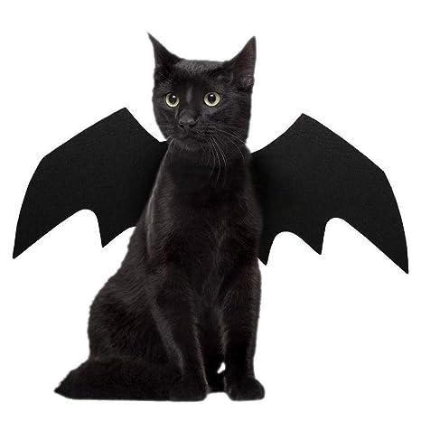 AOLVO Disfraz de Halloween para Mascotas, diseño de alas de Bate frío, Disfraz para