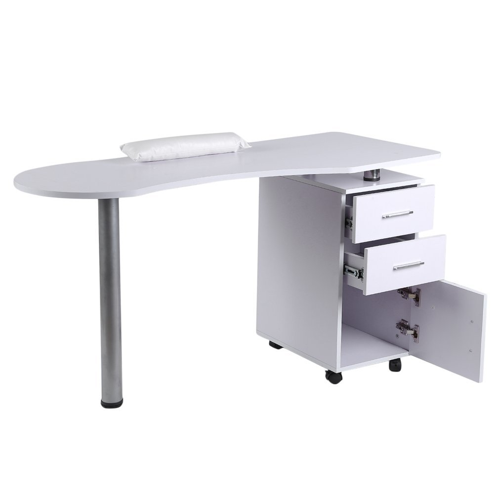 Homgrace Purple Beauty Manicure Nail Table Station Practical Movable Desk Nail Salon Equipment With Wrist Rest Pad 3 Drawers by Homgrace (Image #5)