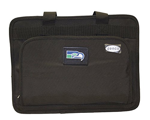 NFL Officially Licensed Seattle Seahawks Denco Sports Luggage Expandable Laptop Bag by Denco