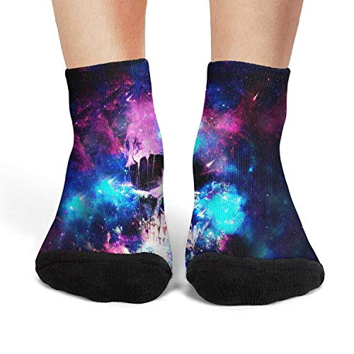 Women's Athletic Crew Socks Colorful skull starry sky fit Socks