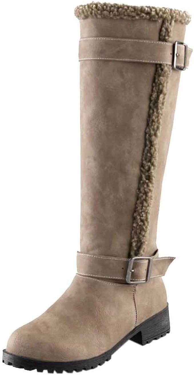 stivali donna al ginocchio tacco basso con cerniera neri taglia 36 37 38 39 40