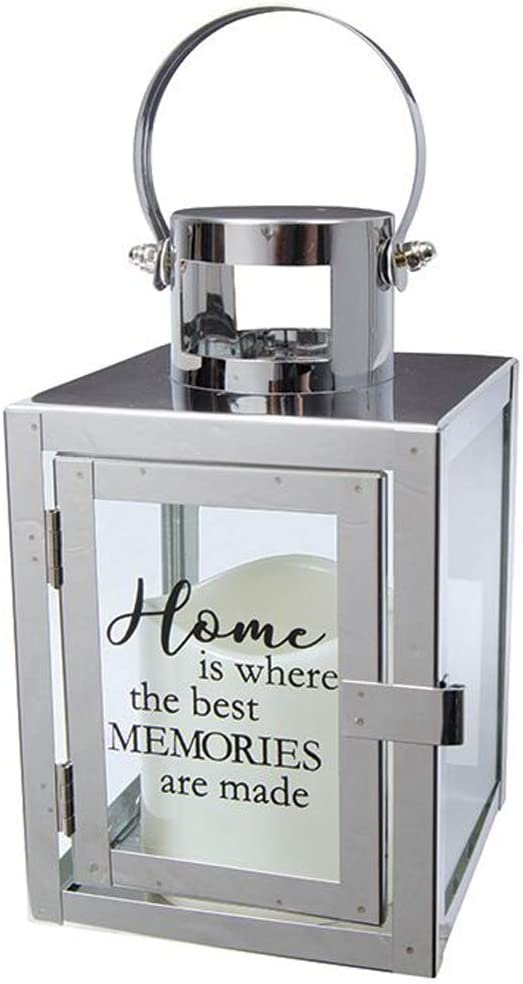 """Carson Home Accents 12"""" Flameless Candle Light The Way Copper Metal Lantern (Home/Memories)"""