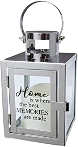 "Carson Home Accents 12"" Flameless Candle Light The Way Copper Metal Lantern (Home/Memories)"