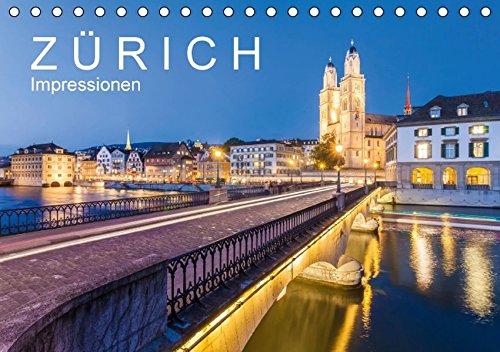 Z Ü R I C H  Impressionen (Tischkalender 2016 DIN A5 quer): 13 faszinierende Aufnahmen der grössten Stadt der Schweiz (Monatskalender, 14 Seiten ) (CALVENDO Orte)
