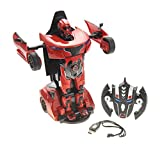 AMPERSAND SHOPS RC Transformer Robocar 2.4G 1:14 (Red) with USB Charger