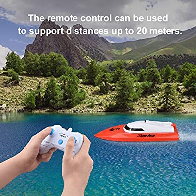 Remote Control Boats for Pools and Lakes, TOYEN RC Boat 2.4GHz 14km/h Mini Remote Boat Toys Indoor/Outdoor for Kids Boys Girls: Toys & Games