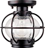 Maxim 30508CDOI, Portsmouth Aluminum Outdoor Ceiling Lighting, 100 Watts, Oil Rubbed Bronze Review