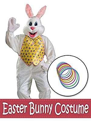 BirthdayExpress Deluxe Easter Bunny With Yellow Vest Costume Kit