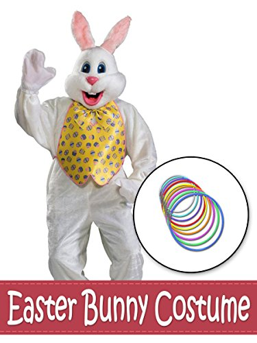 BirthdayExpress Deluxe Easter Bunny Mascot with Yellow Vest
