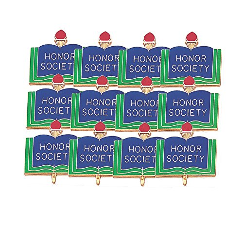 Society Lapel Pin - 1 Inch Honor Society Lapel Pin - Package of 12, Poly Bagged