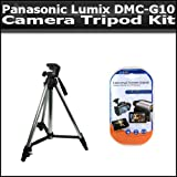 Tripod Kit Includes 50 Inch Pro Tripod + LCD Clear Screen Protectors For The Panasonic Lumix DMC-G10 12.1 MP Digital Camera