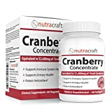 3x Cranberry Extract Supplement For Bladder & Urinary Tract Infection UTI Support – 12,600 mg of Fresh Cranberries, Vitamin C & E and Polyphenols per Capsule – 60 Softgel Capsules For Sale