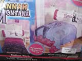 """HANNAH MONTANA EMBELLISHED TWIN COMFORTER (REVERSIBLE) """"READY TO ROCK"""""""