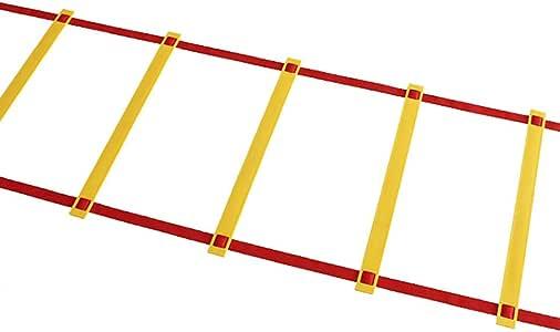 Xin Escalera ágil, 8M Escalera de Velocidad Trapezoidal ágil de 16 Pasos para Entrenamiento de Velocidad de fútbol y maletín de Transporte Negro: Amazon.es: Deportes y aire libre