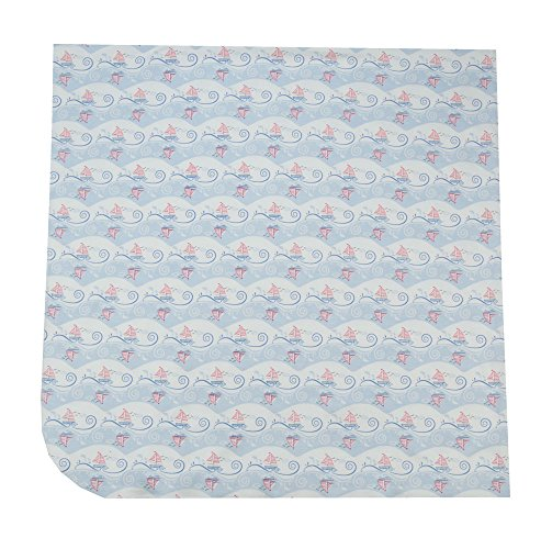 (Magnolia Baby Light Blue Sea Breeze Printed Swaddle Blanket)