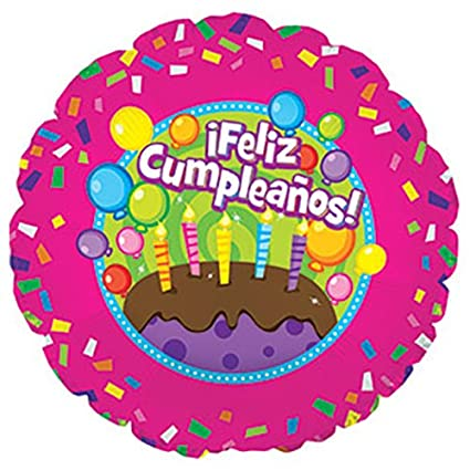 Amazon CTI Balloons Foil Balloon 114104 Feliz Cumpleanos