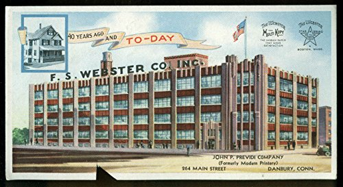 F S Webster Carbon Paper factory ad blotter 1930s John P Previdi Danbury CT from The Jumping Frog