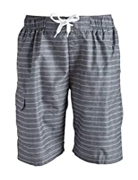 Kanu Surf Mens Standard Line Up Stripe Quick Dry Beach Board Shorts Swim Trunk
