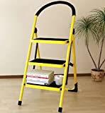 Collapsing Step Stool, 3-Step, Heavy Duty, Metal Material, Lightweight And Folding Design, Portable, Safety Lock, Comfortable Handle, Convenient Storage And Transport, Durable And Sturdy & E-Book.