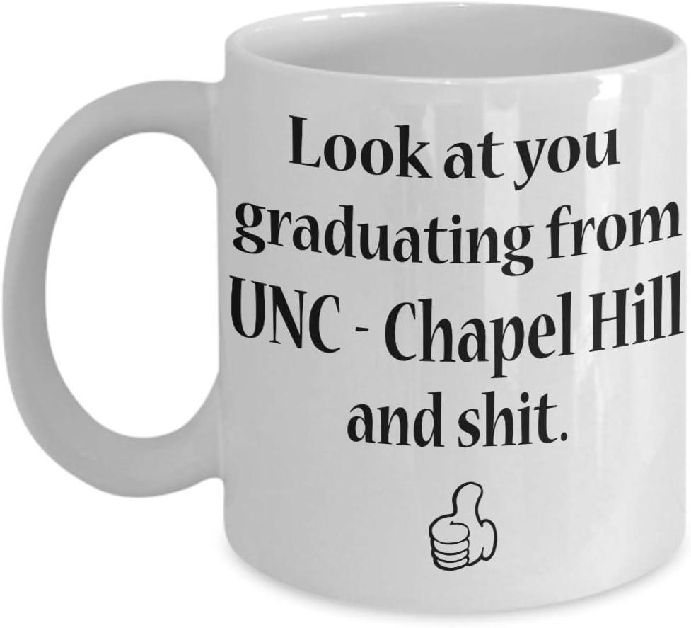 N\A UNC - Chapel Hill Grad Coffee Mug - Idea de Regalo de graduación universitaria para Hombres, Mujeres, él, Ella, Estudiantes de la Escuela, Clase 2019, Diploma de graduación ACA