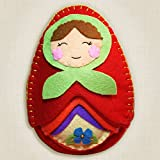 Heidi Boyd | Nesting Matryoshka Dolls | Whimsy Kits | Enjoy Creating Clever Nesting Matryoshka Dolls with This All Inclusive Felt Craft Sewing Kit Age 13+