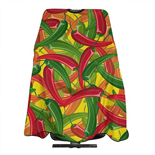 Hot-chili-peppers Professional Salon Haircut Apron Hair Cut Cape For Styling Hair Cut Hairdresser 55 X 66 Inch