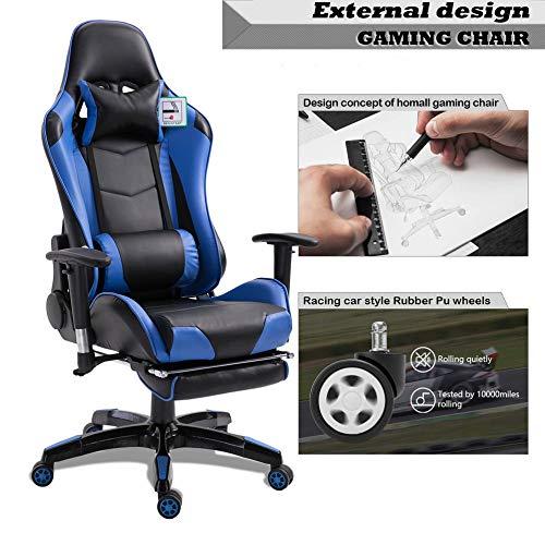 Mimagogo Silla ergonóMica Que descansa compitiendo con apoyabrazos Giratorio reclinable Gaming: Amazon.es: Hogar