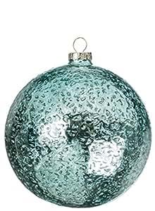 Sullivans OR8208 Sparkling Glass Ball (Set of 6), 5 Inches Each, Aquamarine