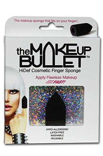 The Makeup Bullet Finger Sponge (Black) - The Most Versatile Makeup Sponge - Washable, Reusable, Used Wet or Dry, Latex-Free by The Makeup Bullet