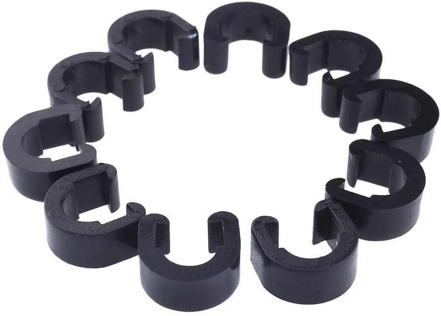 Jagwire 10 Pack of Cable Housing C-Clips for Bike Frames Clamps
