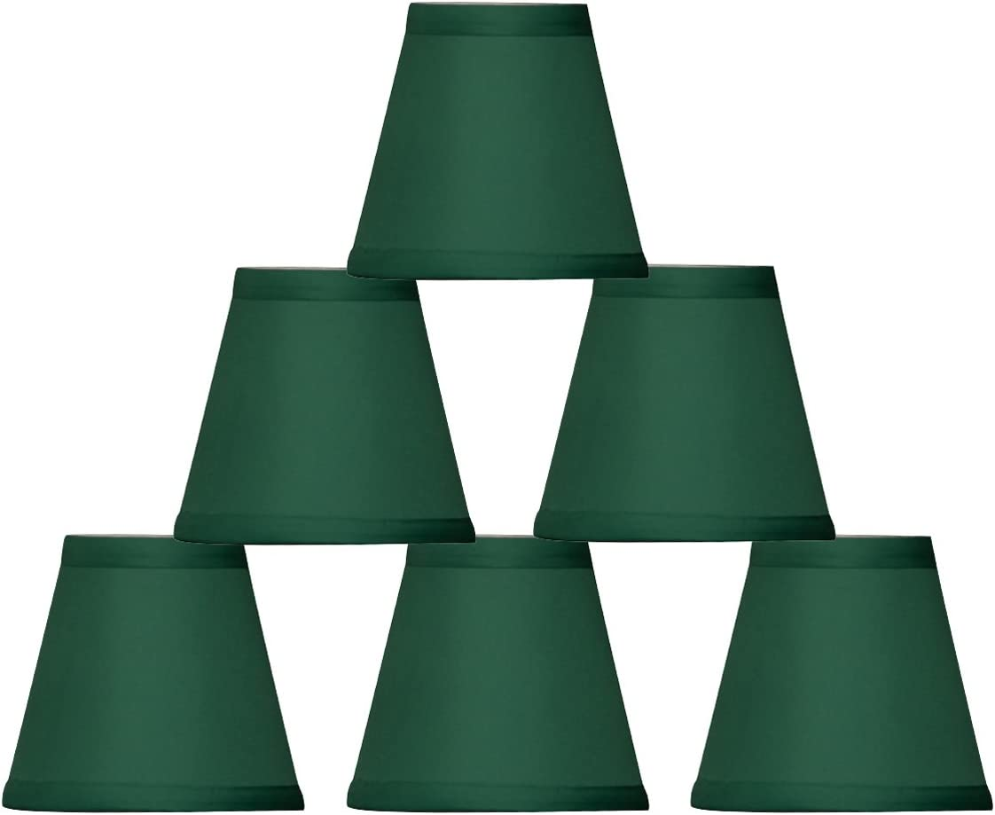 Royal Designs CS-1001-5GRN-6 Clip On Empire Chandelier Lamp Shade, 3 x 5 x 4.5 , Green, Set of 6