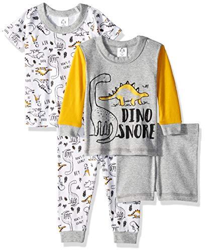Gerber Baby Boys 4-Piece Pajama Set, Dinos, 4T]()