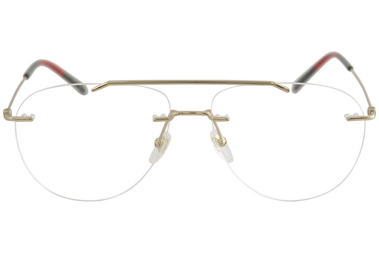 fc2698435bc Amazon.com  Eyeglasses Gucci GG 0398 O- 002 GOLD    Clothing