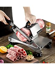 Poafamx Frozen Meat Slicer Manual Stainless Steel Meat Cutter for Home Use Beef Mutton Roll Meat Food Slicer Slicing Machine Hot Pot Shabu Shabu