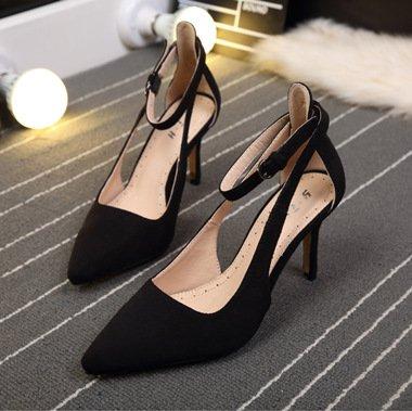 Fait Une Black Zhudj Printemps A Suede Boucle Stilettos Chaussures 5UU4qvO