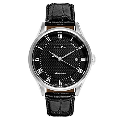 Seiko-Mens-Classic-Dress-Japanese-Automatic-Stainless-Steel-and-Leather-Casual-Watch-ColorBlack-Model-SRPA97